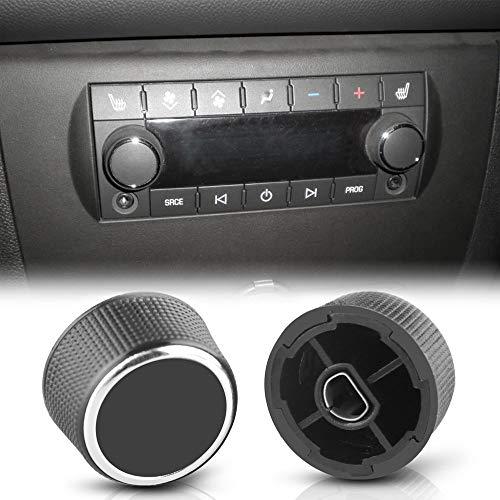 TOOGOO 2 Piezas Control Volumen De Radio Trasero Sintonizador Dial Dial para 07-13 Chevy Tahoe Chevrolet Silverado Gmc Acadia Sierra Denali Yukon Gm 22912547 Kit De Reparación De Radio