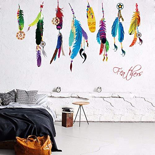 Mode Campanula Feder Wandaufkleber Traum Wandkunst Aufkleber Feder Dekor Dreamcatcher Schlafzimmer Dekor Poster 50x70cm