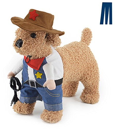 Mikayoo Pet Dog Cat Halloween Costumes,The Cowboy for Party, Blue, Size L