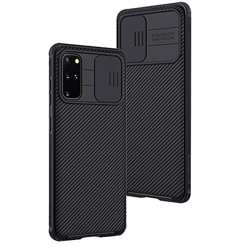XTCASE Funda para Samsung Galaxy S20+ / S20 Plus Protección de la cámara Carcasa Cubierta de cámara Deslizante Proteger Ultra-Delgado Híbrida PC Anti-Choque Anti-arañazos - Negro