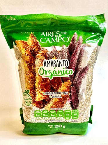 Puffed Amaranth Cereal from Ancient Aztec Lands in Mexico (Xochimilco) 250gm from Aires de Campo