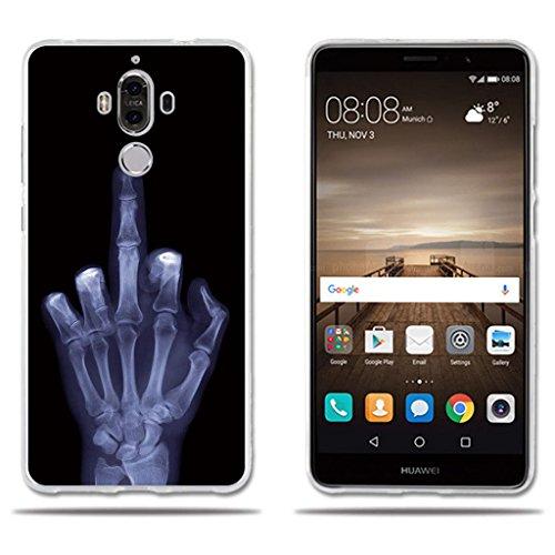 fubaoda Funda Huawei Mate 9 Carcasa de Silicona,Fina,Ultra Suave con Cubierta Protectora,Dibujo Tema No Toque Mi Teléfono, Funda Protectora Anti-Golpes para Huawei Mate 9 (5.9