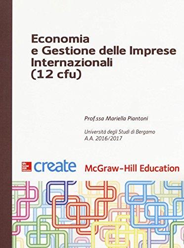 Economia e gestione delle imprese internazionali 12 cfu