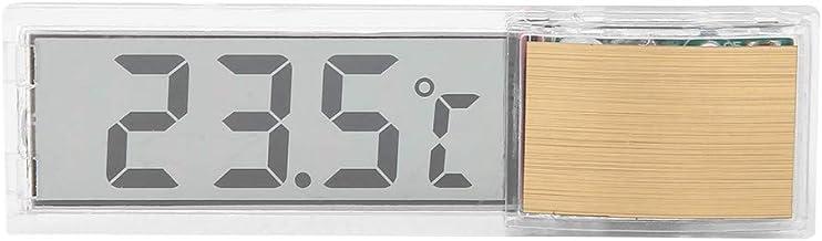 FTVOGUE Máquina de Medición de la Temperatura de Tamaño Pequeño del Termómetro del Acuario del LED Digital para el Acuario