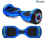 TPS 6.5' Chrome Hoverboard Electric Self Balancing Scooter w/Bluetooth UL2272 Certified LED Lights...