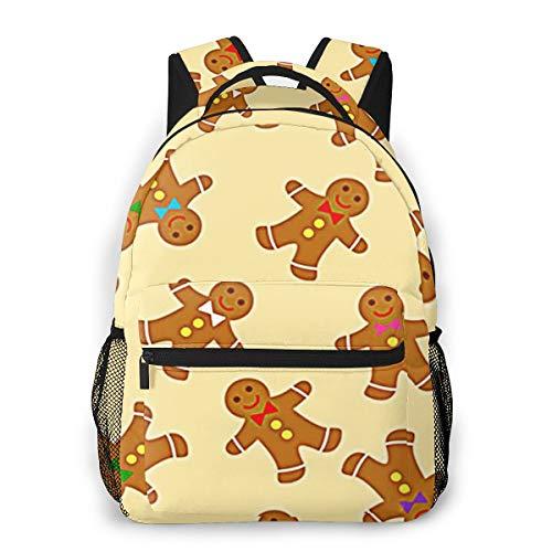 Laptop Rucksack Schulrucksack Brot Lebkuchen Plätzchen, 14 Zoll Reise Daypack Wasserdicht für Arbeit Business Schule Männer Frauen