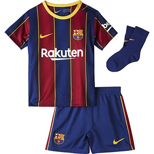 NIKE FC Barcelona Temporada 2020/21-FCB I NK BRT HMCD4607-456 Kit Completo Primera Equipación, Niño, Deep Royal Blue/Varsity Maize Full Sponsor, 6-9