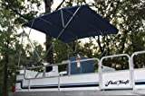 Vortex New Navy Blue Pontoon/Deck Boat 4 Bow Bimini Top 10' Long, 97-103' Wide, 54' High, Complete Kit, Frame, Canopy, and Hardware 1 to 4 Business Day DELIVERY