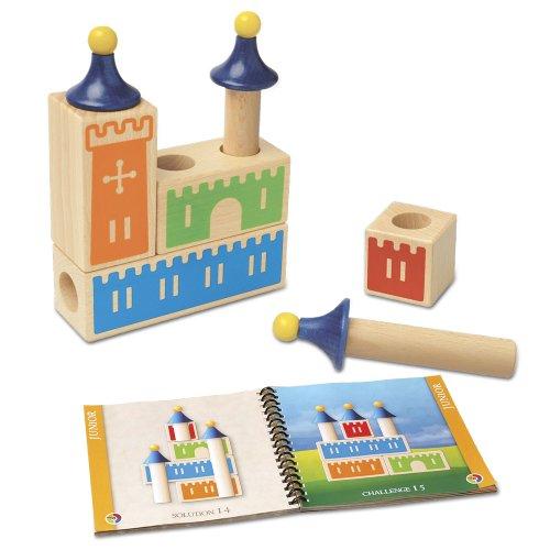 smart games - Castle Logix, Juego de ingenio de Madera con retos...