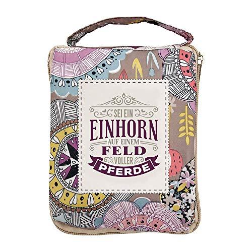 History & Heraldry Einkaufstasche Top Lady Sei ein Einhorn, One Size, Mehrfarbig