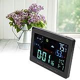 Qini Monitor de Humedad, higrómetro Digital inalámbrico Fácil de operar Soporte técnico 7 Idiomas con 6 Botones de función para la Oficina en casa para la habitación del bebé