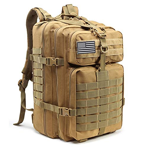 CKY Large Capacity Man Army Tactical Backpacks Military Assault Bags Outdoor Pack For Trekking Camping Hunting Bag,Khaki