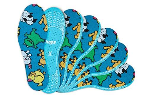 Kaps 6 Paar Offspring Einlegesohlen-Set für Kinder   Bequeme Schuheinlagen für den täglichen Gebrauch   Einlagen mit coolem Design   Zum zuschneiden