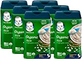 Gerber Baby Cereal Organic Rice Cereal, 8 Ounces (Pack of 6)
