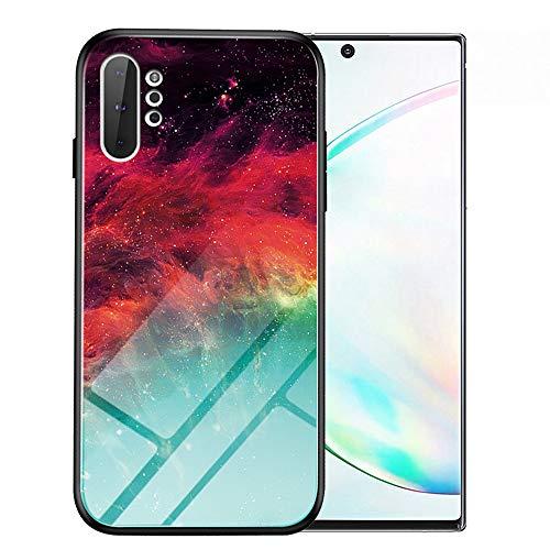 Note10 Pro Hülle Marmor, Note10+ 5G Hülle, kompatibel mit Samsung Galaxy Note 10 Plus Hüllen, Handy-Bumper Schutz Slim SN10 10+ Gaxaly Glaxay Hartglas Rückseite 2019 TPU 6.8 Zoll, Colorful Nebula