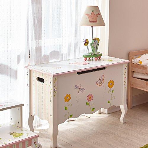 Fantasy Fields Childrens Princess & Frog Kids Holz-Spielzeugkiste W-7462A - 2