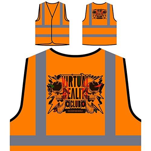 Realidad Virtual Mundo Chaqueta de seguridad naranja personalizado de alta visibilidad u421vo