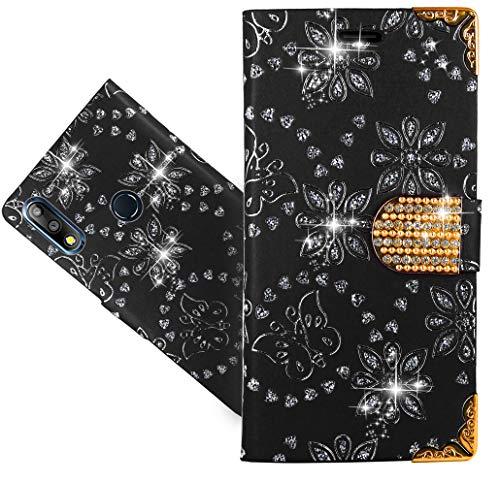 ASUS Zenfone Max Pro (M2) ZB631KL Handy Tasche, HülleExpert® Wallet Hülle Cover Bling Diamond Hüllen Etui Hülle Ledertasche Lederhülle Schutzhülle Für ASUS Zenfone Max Pro (M2) ZB631KL