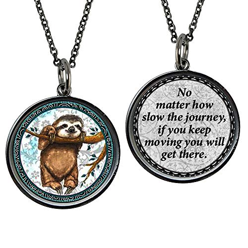 Spirit Lala Medium Sloth Reversible Pendant Necklace with Gift Box