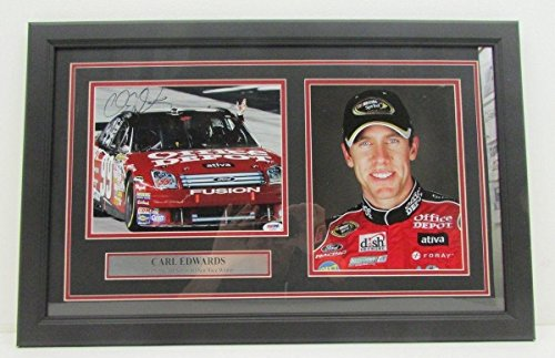 Carl Edwards NASCAR Auto Racing Framed 8x10 Photograph Collage