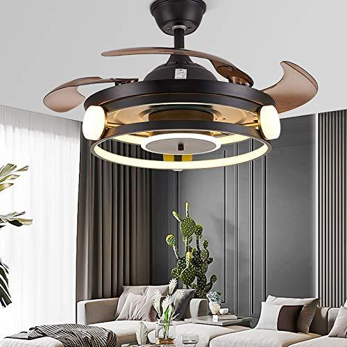 OUPPENG Lámpara de Ventilador Luces LED de decoración de dormitorio nórdico para la lámpara de techo de la habitación Lámpara de luz Restaurante Comedor Techo Fans con luces Control remoto