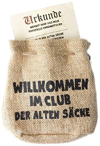 Jutebeutel Willkommen im Club der alten Säcke Geldgeschenk