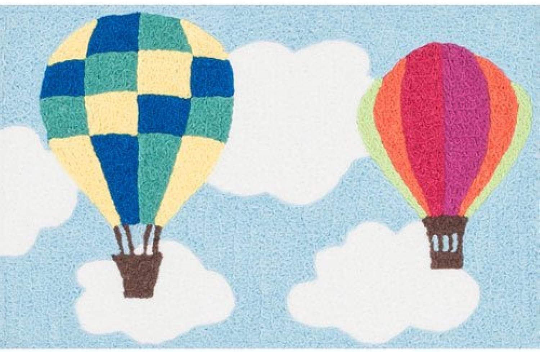 Loloi Kids' Angelou Balloon Rug, bluee Sky Multi, 1' 9  by 2' 9