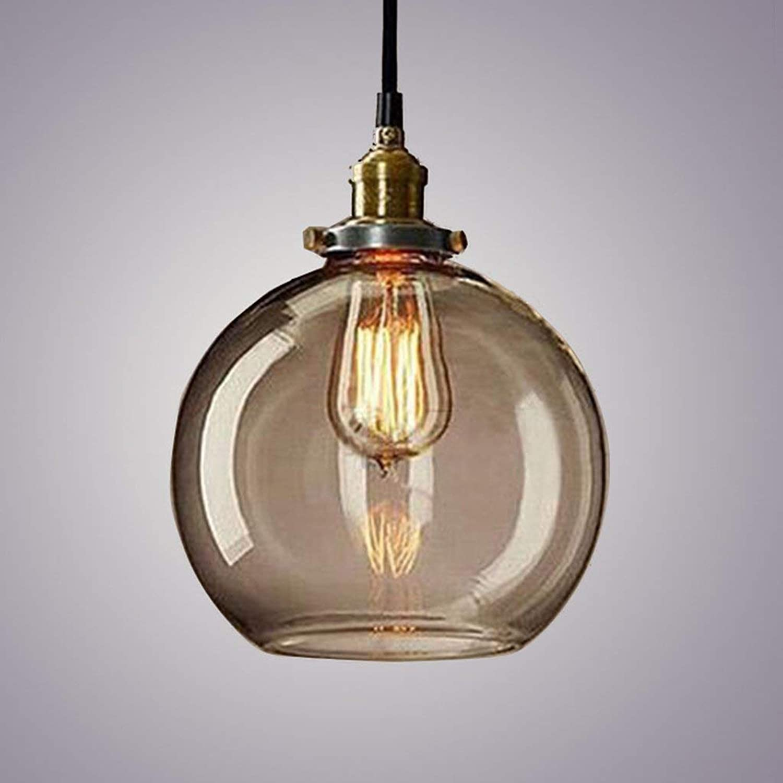 ACZZ Vintage Industria Pendelleuchte Beleuchtung - 1 Licht, Restaurant Loft Kronleuchter,3  -transparent