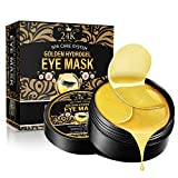 24K Gold Under Eye Gel Pads, Collagen Under Eye Mask for Dark Circles and Puffiness Skincare Hydrating   60 PCS