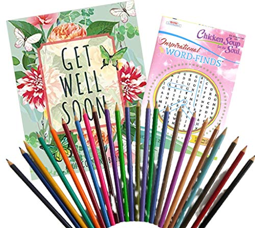 Get Well Gift Package for Women - Get Well Soon Coloring Book, Chicken...