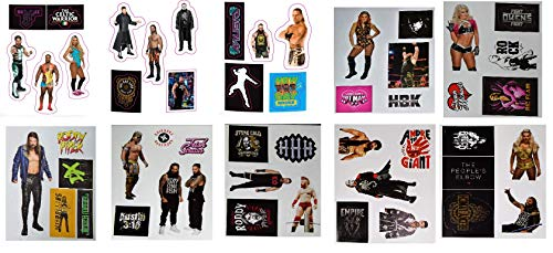 Myesha Toys WWE Character Small Stickers Assorted, Pack of 10