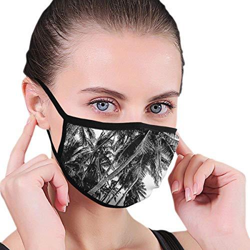 Face Scarf Palmen zwart en wit gezichtsbescherming stofdicht werk paardrijden lopen winddicht zonwerend comfortabel wasbaar modern herbruikbare mondbescherming gezichtssjaal bonte druk