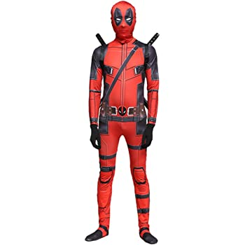 QQWE Marvel Deadpool Disfraz Disfraz Adulto Niños Halloween ...