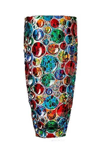 Vase Blasen mehrfarbiger handgemalter Kristall im venezianischen Murano-Stil