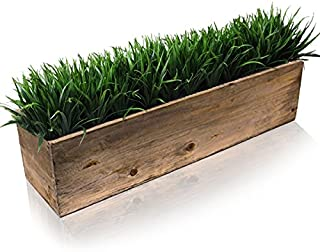 """CYS EXCEL Planter Box, Wood Planter, Wood Rectangle Window Box Wood Planters with Removable Zinc Liner, 8 (1, H:6"""" Open:24x6)"""