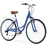 sixthreezero Body Ease Women's 7-Speed Comfort Road Bicycle, Navy Blue 26' Wheels/ 17' Frame