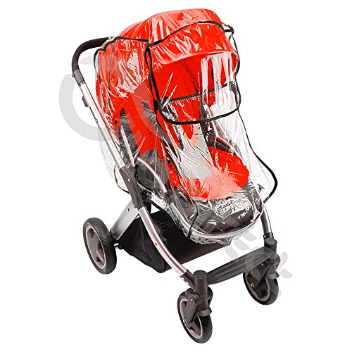 New Quality Raincover for Baby Style Oyster Pram / Pushchair Rain Cover (black)