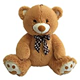 CUDDALICIOUS Animal Plush Bear - 32 Inch Lifelike Soft Inflatable Bear Buddies Toy 2.5 Feet Tall