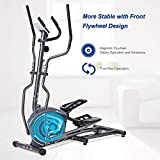 MaxKare Magnetic Elliptical Machine Elliptical Trainer Heavy Duty Smooth Quiet Driven  for Home Use with Front Flywheel/Display Panel/8-level Magnetic Resistance for Cardio Workout