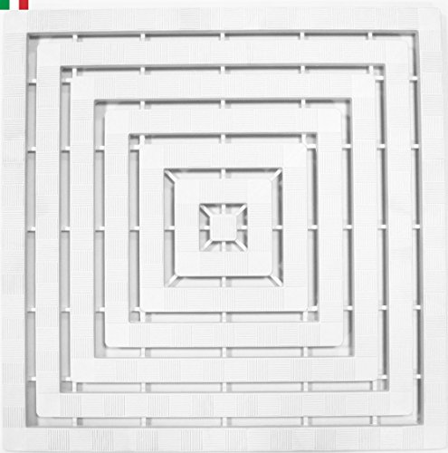 CENNI 75831 Pedana Doccia 60 x 60 con Gommini Antiscivolo, Bianca, Made in Italy