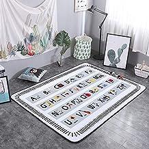 Tuzi Tapis de yoga rectangulaire en polyester antidérapant Motif lettre Sxy Taille 200 x 150 cm