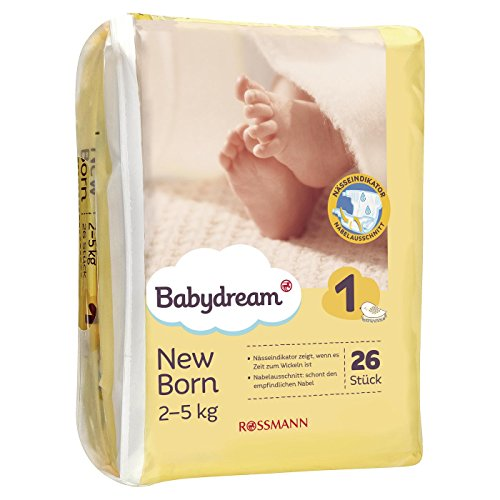Babydream Windeln New Born, 1 x 26 Stück