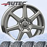 4 ruote complete invernali Tallin 7,5 x 17 ET 40 5 x 112 argento titanio con 215/65 R17 99H Continental WinterContact TS 870 P FR