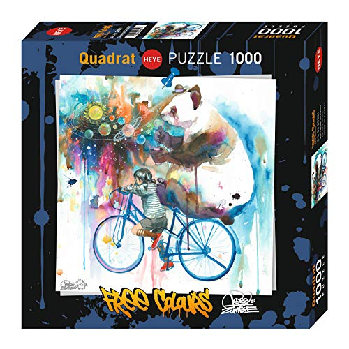 HEYE 29851 Art Lab Puzzles, Free Colours Puzzzle, Mehrfarbig