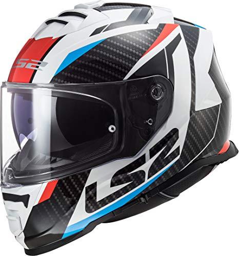 LS2 Motorradhelm FF800 STORM RACER RED BLUE, Schwarz/Weiss/Rot/Blau, S