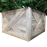 BarnwoodUSA | Wooden Tree Box Collar | Natural Weathered Gray | Farmhouse Tree Box | Christmas Tree Skirt | Rustic | Decorations | Home Accent | Vintage | 100% Reclaimed & Recycled Wood | 4 Sides
