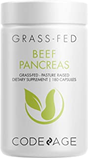 Codeage Grass Fed Beef Pancreas Supplement Glandulars - Freeze Dried, Non-Defatted Desiccated Beef Pancreas Pills – Pancre...