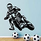 Motorrad Motor Race Wanddekoration Motocross Fahrrad Sport Jungen Wandtattoo Für Teenager Jungen Schlafzimmer Aufkleber DIY Kunst andere Farbe 46x42cm