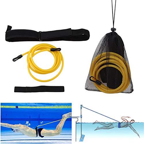Medoore Swim Training Belts, 4M Swim Training Leash, Swim Tether Stationary Swimming, Swim Harness Static Swimming Belt, Swim Bungee Cords Resistance Bands