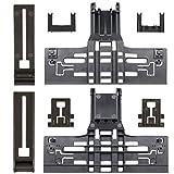 MONKEMON 8 Pack Upgraded W10546503 Upper Rack Adjuste Polymer Material,W10195839 Dishwasher Rack Adjuster,W10195840 Adjuster Positioner,W10250160 Arm Clip-Lock,Compatible with Whirlpool